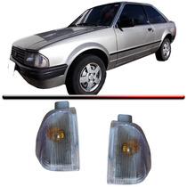 Lanterna Dianteira Pisca Escort 83 84 85 86 Cristal Par