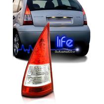 Lanterna Traseira Citroen C3 2006 07 08 09 10 11 12 Bicolor