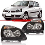 Farol Clio 2012...2006 2005 2004 2003 Máscara Negra Renault