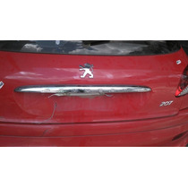 Friso Cromado Acabamento Tampa Traseira Peugeot 206 E 207