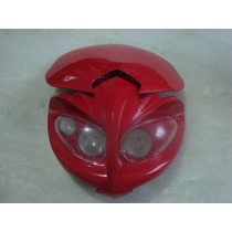 Farol Carenagem Mascara Universal Moto Naked Trilha Vermelha