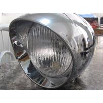 Farol Bala Para Motos Custom - Com Detalhes - Com Lâmpada