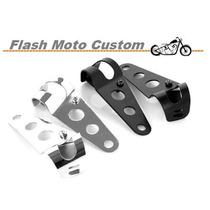 Suporte De Farol Moto Custom Cafe Racer Bobber 28 Até 42mm