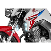 Farol Milha Auxiliar Moto Cg 150 Titan Lampada Igual Xenon