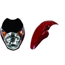 Carenagem+farol+paralama Titan 150 Vermelho 2010