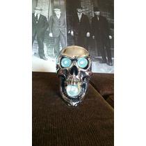 Farol De Caveira Skull Custom Triciclo Moto Decoração