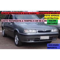 Lente Vidro Farol Tempra 96 97 98 Direito Padrao Original