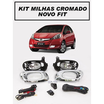Kit Farol Milha/neblina Honda Fit 2013/2014 Moldura Cromada
