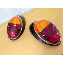 Lanterna Fusca Fusquinha Traseira Bicolor Carcaca Em Metal