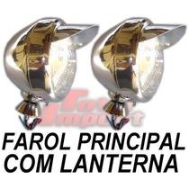 Farol Principal Com Lanterna Carros E Motos (show) Acessorio