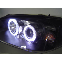 Farol Gm Astra Ss 2003/2011 Mascara Negra Angel Eyes