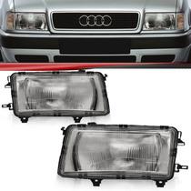 Farol Audi A80 86 87 88 89 90 91 Lente Estriada
