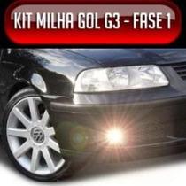 Kit Farol Milha Gol Parati Saveiro G3 00 05 Auxiliar Neblina