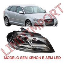 Farol Audi A3 Sportback Ld 09 10 2011 2012 Sem Xenon Sem Led