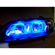 Farol Tuning Vectra 2000 Angel Eyes De Led Azul Novo