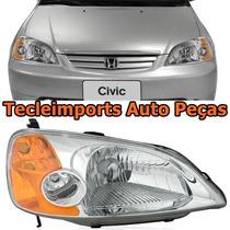 Farol Honda Civic Ano 2001 2002 2003 Depo Produto Novo L/dir
