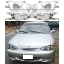 Farol Hyundai Accent 94/97- 4 Portas Novo Lado Esquerdo