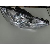 Farol Peugeot 206 E 206 Sw 00 01 02 03 04 05 06 Lente Lisa
