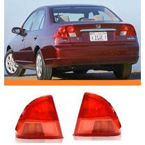 Lanterna Traseira Honda Civic 2001 2002 Canto Par
