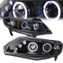 Par D Farol Projector Angel Eyes Led C Xenon Honda New Civic