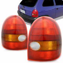 Lanterna Traseira Corsa Wind 94 95 96 97 98 99 Tricolor. Le