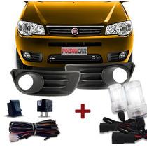 Kit Farol Milha Palio Siena Economy G3 + Kit Xenon 4300k H1