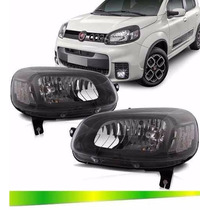 Farol Fiat Uno Sporting Way 2015 2016 Mascara Negra Original