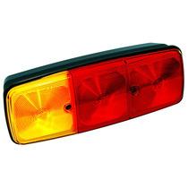 Lanterna Traseira Caminhao Tricolor Gf163 Led 12v Com Vigia
