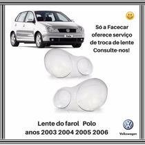 Lente Farol Polo 2003 2004 2005 2006 Esquerda