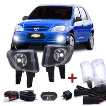 Kit Farol Auxiliar Celta 07 08 09 10 + Kit Xenon 10000k Hb4