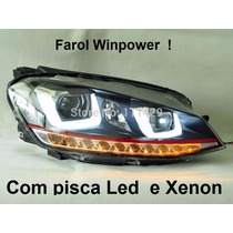Farol Led Golf Mk7 Gti E R-line Com Xenon E Duplo U Led