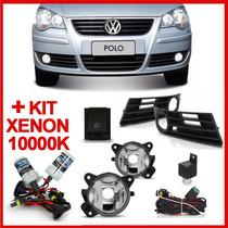 Kit Farol Milha Polo 2007 2008 2009 2010 2011 + Kit Xenon