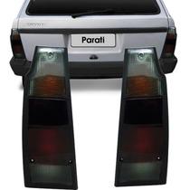 Lanterna Traseira Saveiro Parati Quadrada 83 A 95 Fumê