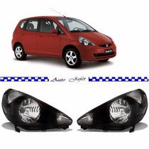 Farol Honda Fit Fume 2003 2004 2005 2006 2007 2008 Novo Par