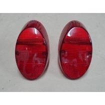 Lente Lanterna Traseira Fusca 1200 1300 Vermelh Plastico Par