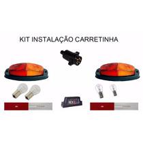 Kit Lanternas, Tomada E Faixas Carretinha Reboque