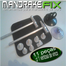 Kit Martelo/martelinho De Ouro Alumínio+ Ventosas Nylon