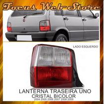 Lanterna Traseira Uno 2004/2009 Bicolor Cristal Lado Esquerd