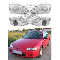 Farol Honda Civic 92/95 Novo 2 Portas Elétrico Direito.