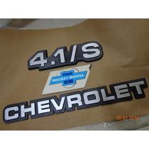 Emblema Chevrolet + 4.1/s Porta-malas Opala Comodoro 88-90