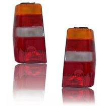 Par Lanterna Traseira Fiorino 86 A 97 Tricolor Modelo Carto
