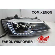 Farol Led Jetta Mk6 2011/2014 Com Xenon - Winpower O Melhor!