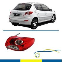 Lanterna Peugeot 207 10/14 Hatch Direita Cromada - Original
