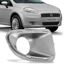 Grade Farol Milha Parachoque Fiat Punto Prata C/furo Direito
