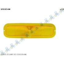 Kit 4 Lentes Lisa P/ Lanterna Dianteira C10 D10 Amarela