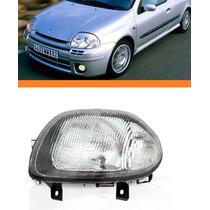 Farol Clio 2000 2001 2002 Foco Simples Lado Esquerdo