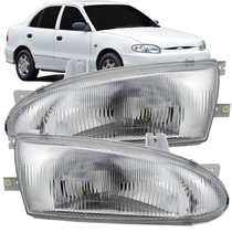 Par Farol Hyundai Accent Sedan 93 94 95 96 97 4 Portas