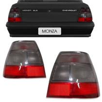 Par Lanterna Traseira Monza 91 92 93 94 95 96 Tubarão Fume