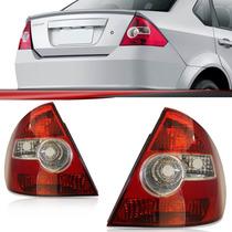 Par Lanterna Fiesta Sedan 2003 2004 2005 06 07 A 10 Acrilico
