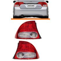 Lanterna New Civic 07 08 09 10 11 Canto Bicolor Original Par